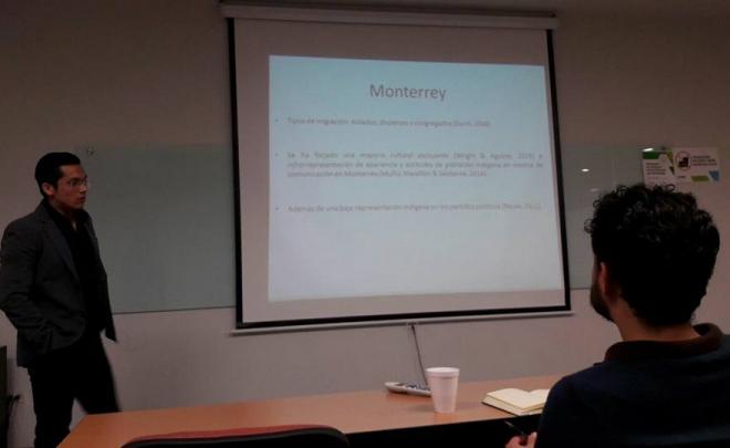 Colaborador del LACOP presenta avances de tesis